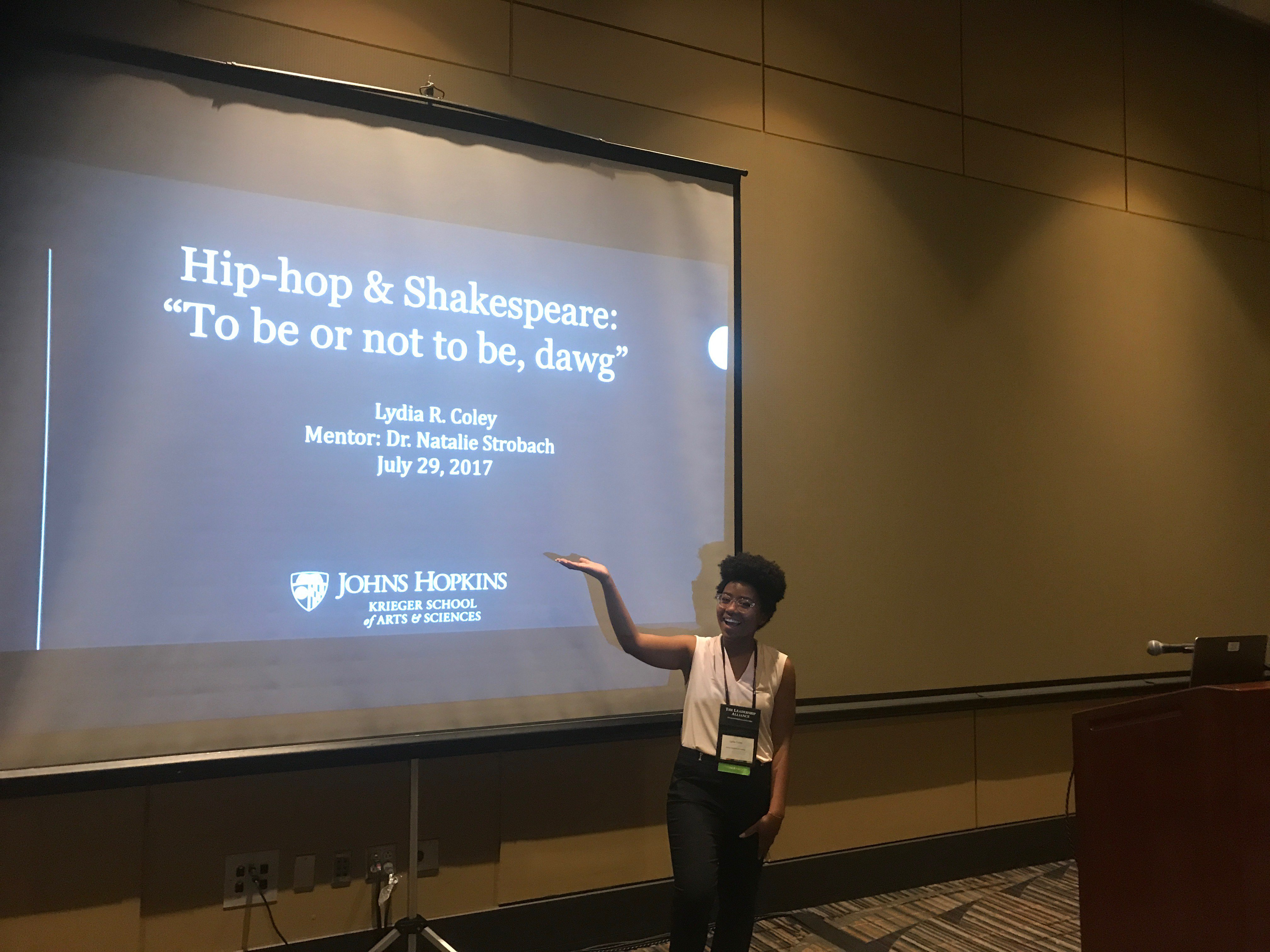 Lydia Coley presents her research at the Leadership Alliance National Symposium.jpg