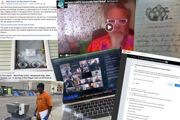 screen shots of ephemeral online media related to COIVD-19