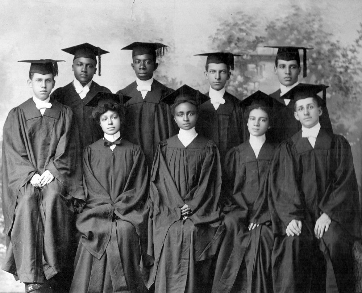 HBCU graduates in cap and gown